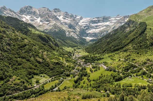 Gavarnie Village, and its famous eponymous cirque in backdrop, which features the highest cascade in Europe.