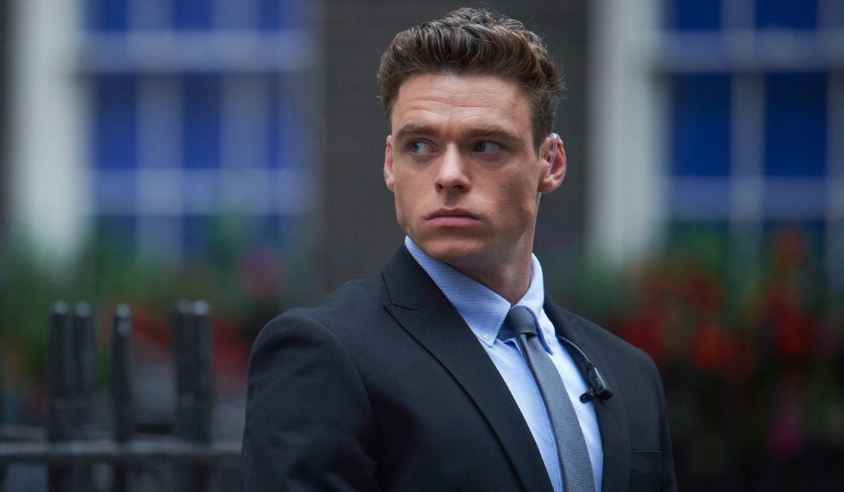 Bodyguard Richard Madden on the lookout