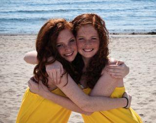 Twin redheads