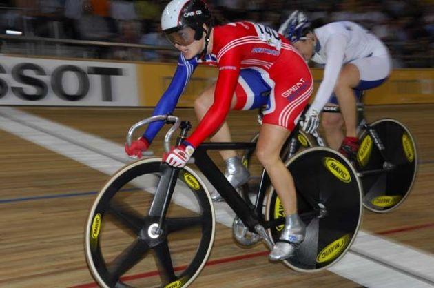 Victoria Pendleton Keirin track