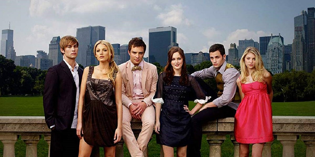 Penn Badgley, Blake Lively, Chase Crawford, Ed Westwick, Leighton Meester, and Taylor Momsen