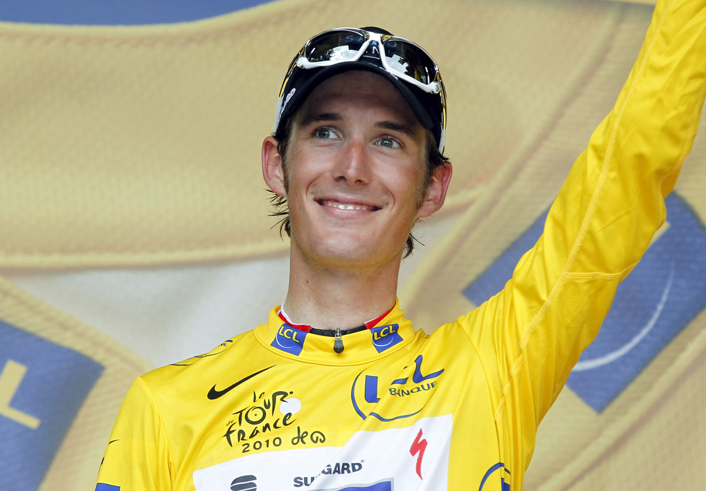 Andy Schleck in yellow, Tour de France 2010 stage 9