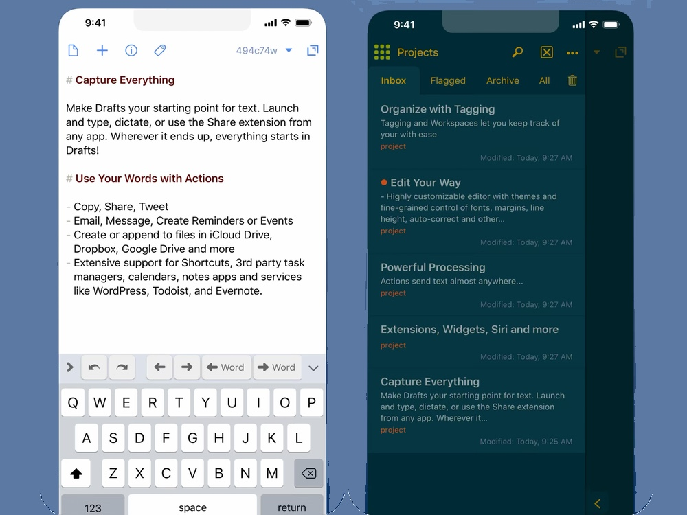 best iphone apps: drafts