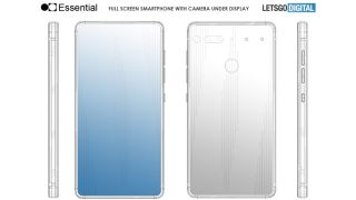 Essential Phone 2 patent points to an in-screen camera