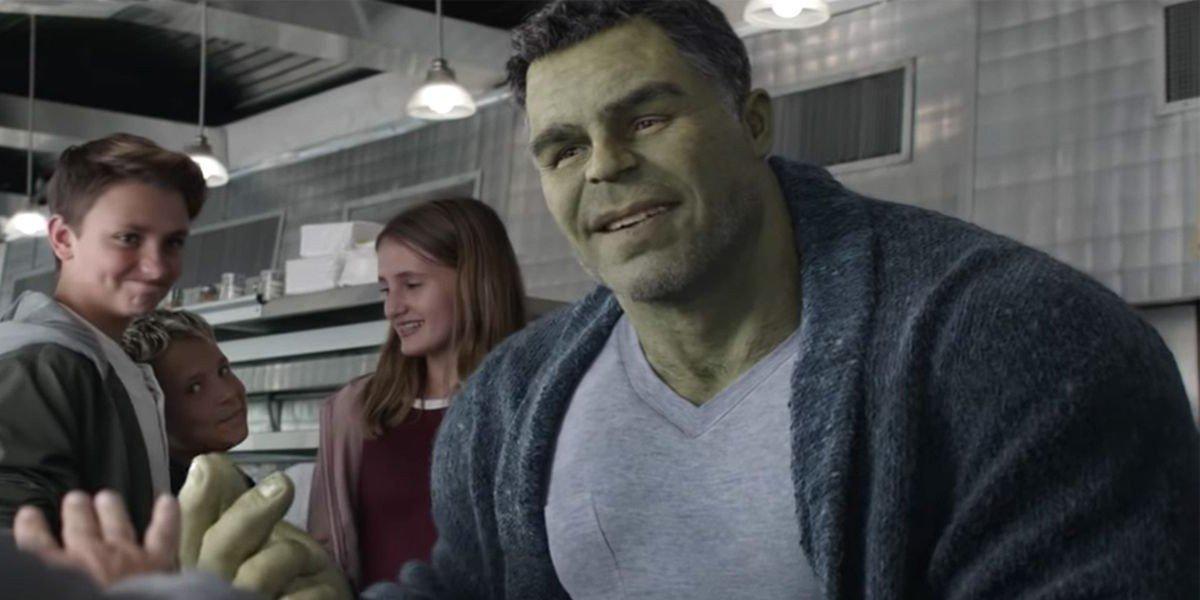 Smart Hulk smiling in Avengers: Endgame