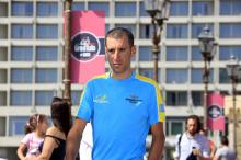 Vincenzo Nibali arrives at the Castel dell'Ovo for the pre-Giro press conference