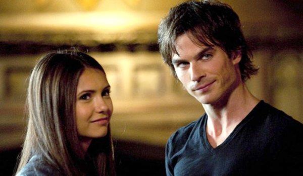 The Vampire Diaries Elena Gilbert Damon Salvatore Nina Dobrev Ian Somerhalder The CW