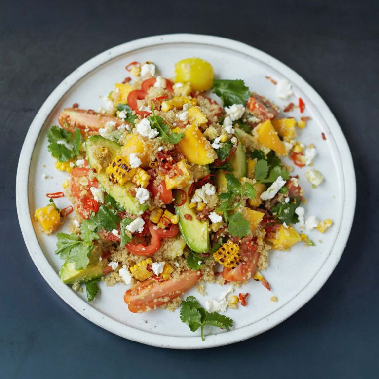 Jamie Oliver's Grilled Corn and Quinoa