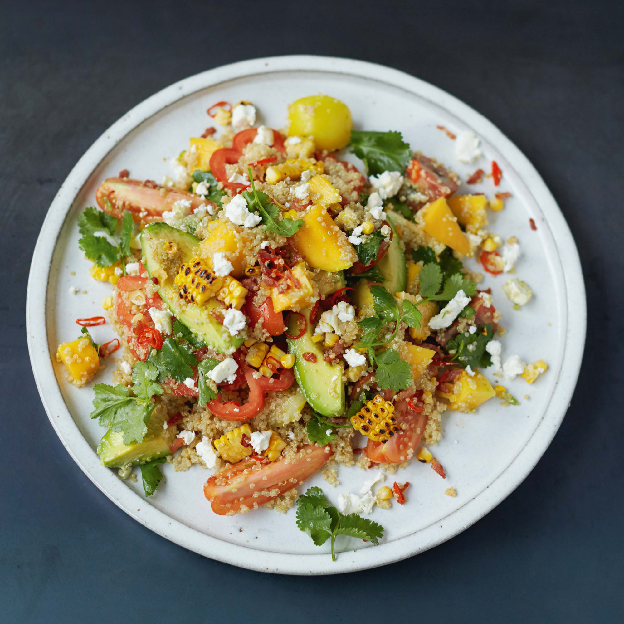 jamie oliver 39 s grilled corn and quinoa salad. Black Bedroom Furniture Sets. Home Design Ideas