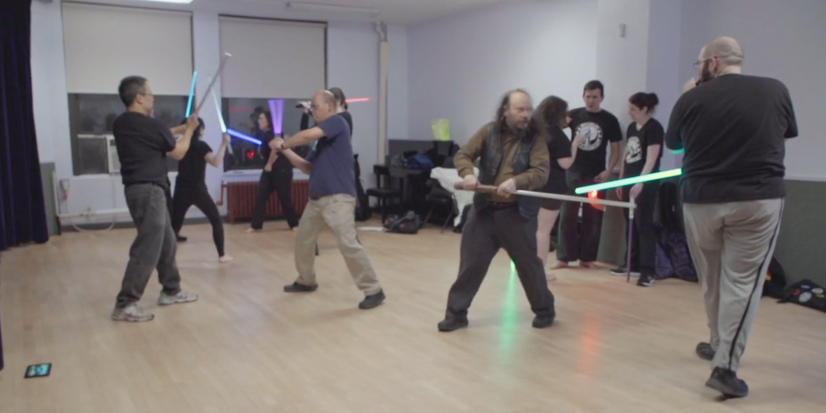 A random lightsaber battle in How To with John Wilson