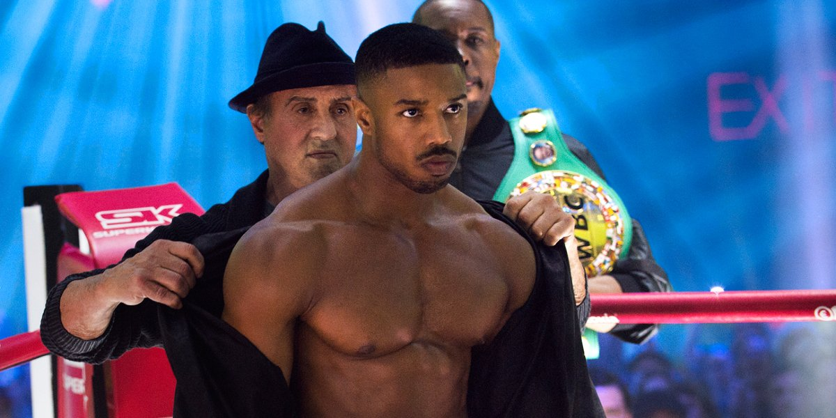 Michael B. Jordan and Sylvester Stallone in Creed 2
