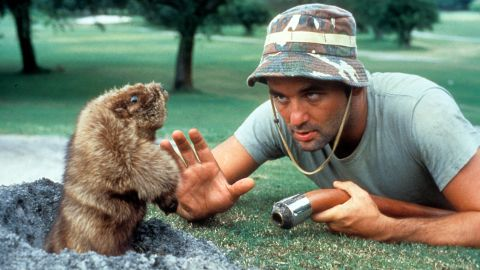 Bill Murray and the gopher in Caddyshack
