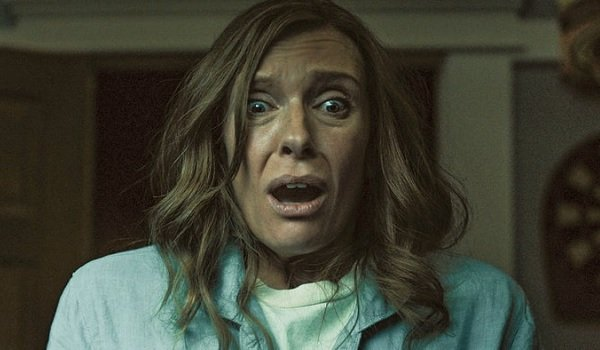 Hereditary Toni Colette Annie reacts in horror