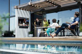 Samsung Terrace Outdoor TV and Soundbar