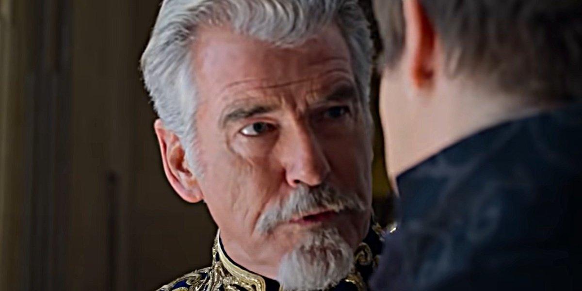 Pierce Brosnan as King Rowan in Cinderella.
