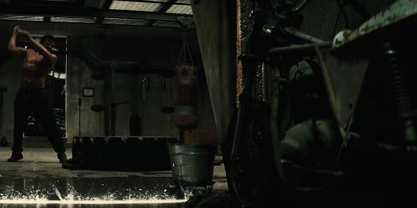 Batman v superman bruce wayne training scene motorcycle