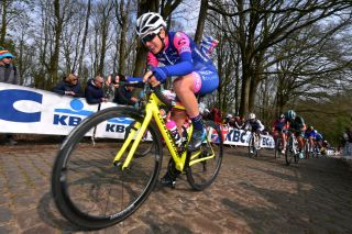 Valcar Cylance's Maria Giulia Confalonieri at the 2019 Gent-Wevelgem