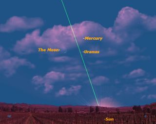 Mercury seen from Melbourne, Australia, April 19, 2012, Sky Map