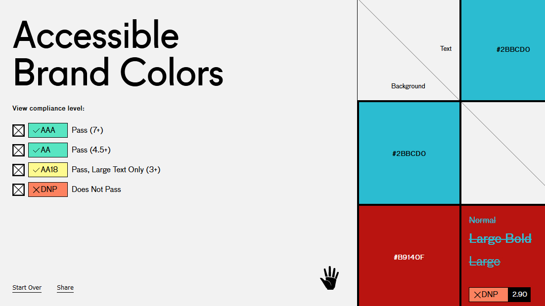 Accessible Brand Colours