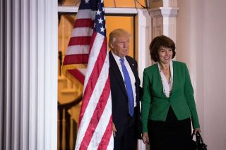 President-elect Donald Trump has chosen U.S. Rep. Cathy McMorris Rodgers (R-WA) as his Secretary of the Interior. Here, the two pose for a photo at Trump International Golf Club in New Jersey on Nov. 20, 2016.