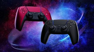 DualSense Controller Midnight Black and Cosmic Red
