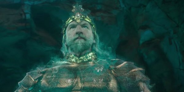 Hologram of king in Aquaman