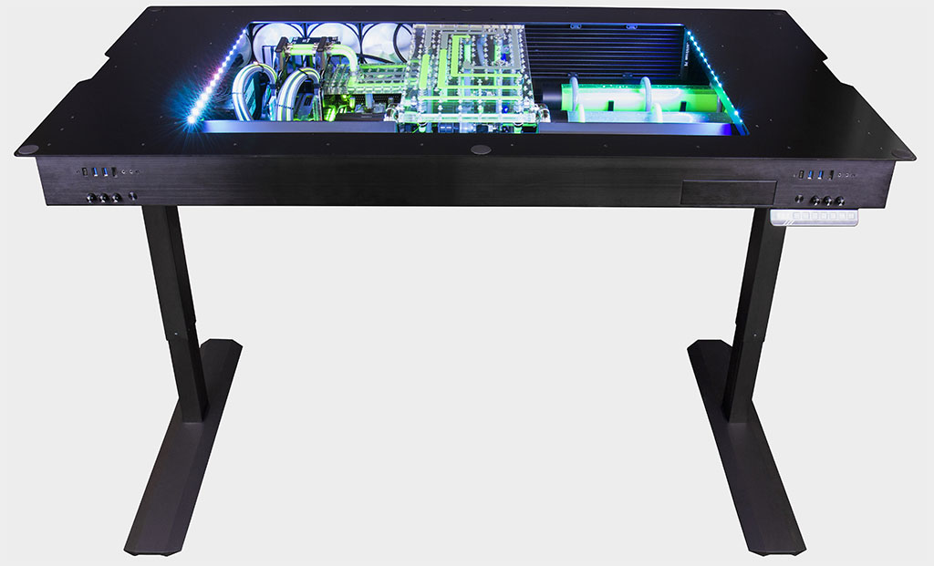 This water cooled gaming desk is cool but costs $14,000 | PC