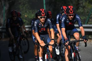 NICE FRANCE AUGUST 27 Michal Kwiatkowski of Poland Luke Rowe of The United Kingdom and Team INEOS Grenadiers during the Team INEOS Grenadiers Training TDF2020 LeTour on August 27 2020 in Nice France Photo by Tim de WaeleGetty Images