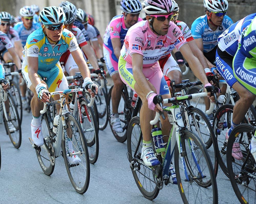Vincenzo Nibali and Alexandre Vinokourov, Giro d'Italia stage 6
