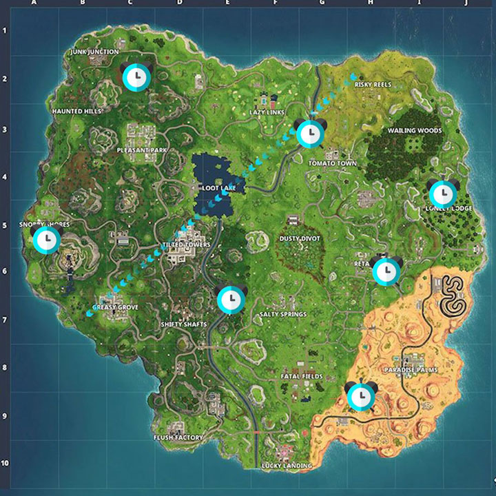 Fortnite Season 5 Week 6 Challenge Guide Complete Time Trials