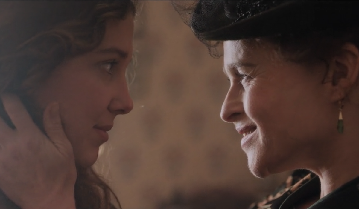 Millie Bobby Brown and Helena Bonham Carter in Enola Holmes