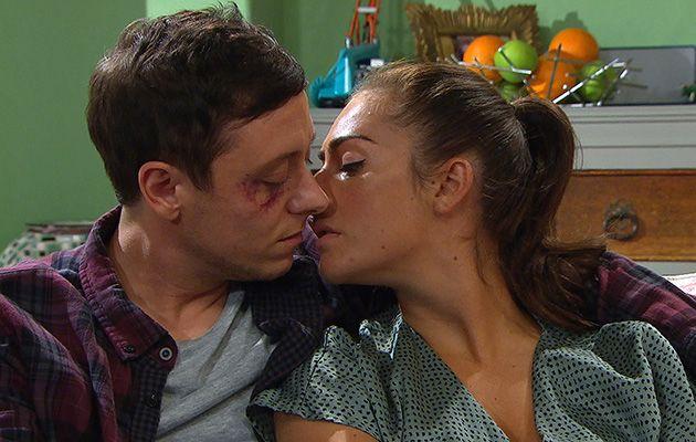 Matty and Victoria kiss