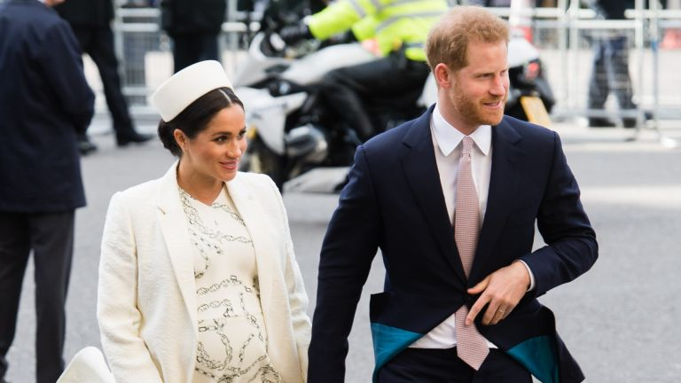 Prince Harry, Duke of Sussex and Meghan, Duchess of Sussex attend the Commonwealth Day service at Westminster Abbey on March 11, 2019 in London, England