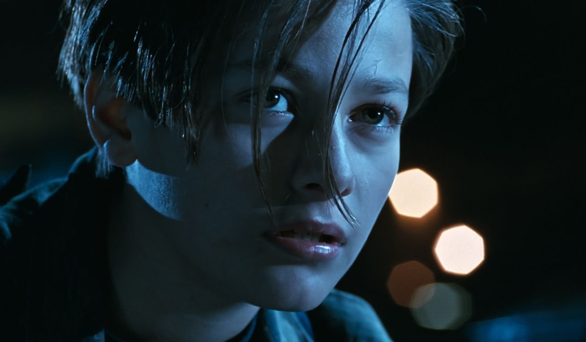 Terminator 2: Judgement Day John Connor in a night scene