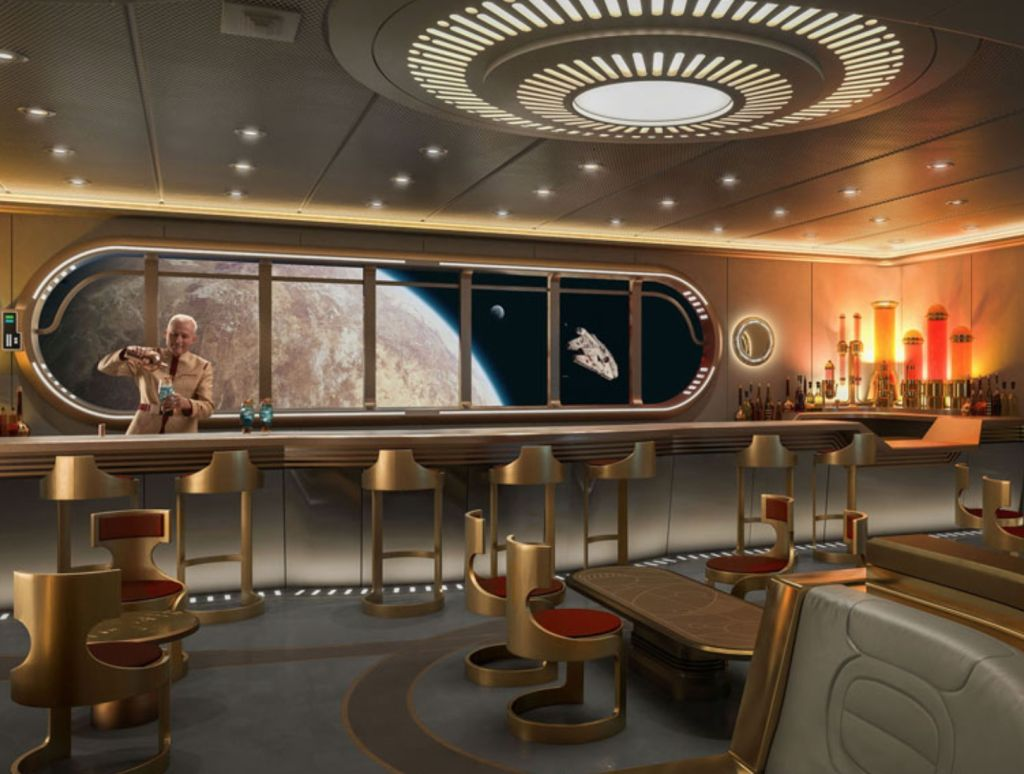 Here's a first look at Disney Cruise Line's upcoming 'Star Wars: Hyperspace Lounge'
