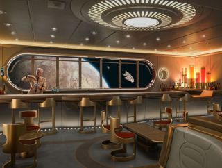 """Disney Cruise Lines will transport """"Star Wars"""" fans to a galaxy far, far away with a new Hyperspace Lounge on the Disney Wish in 2022."""