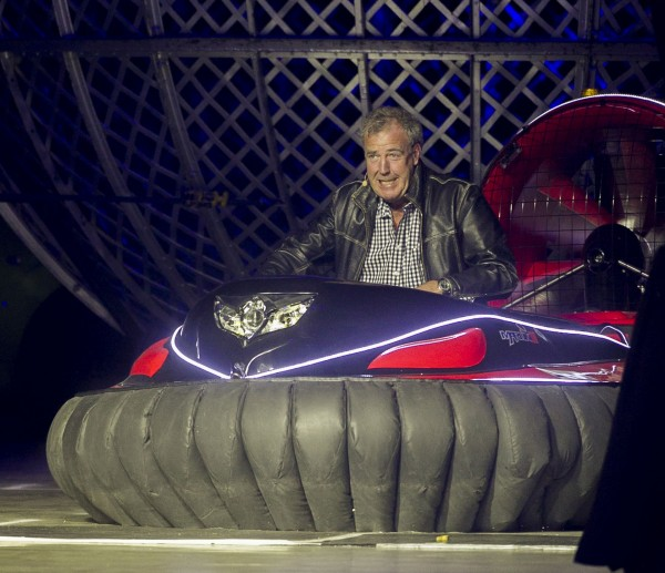 Jeremy Clarkson drives a hovercraft