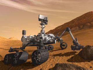 curiosity mars rover painting