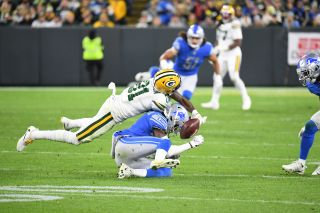 Geronimo Allison (81) of the Green Bay Packers during a regular season Monday Night Football game on Oct. 14, 2019