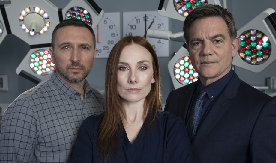 Fletch (Alex Walkinshaw), Jac (Rosie Marcel) & Guy (John Michie)
