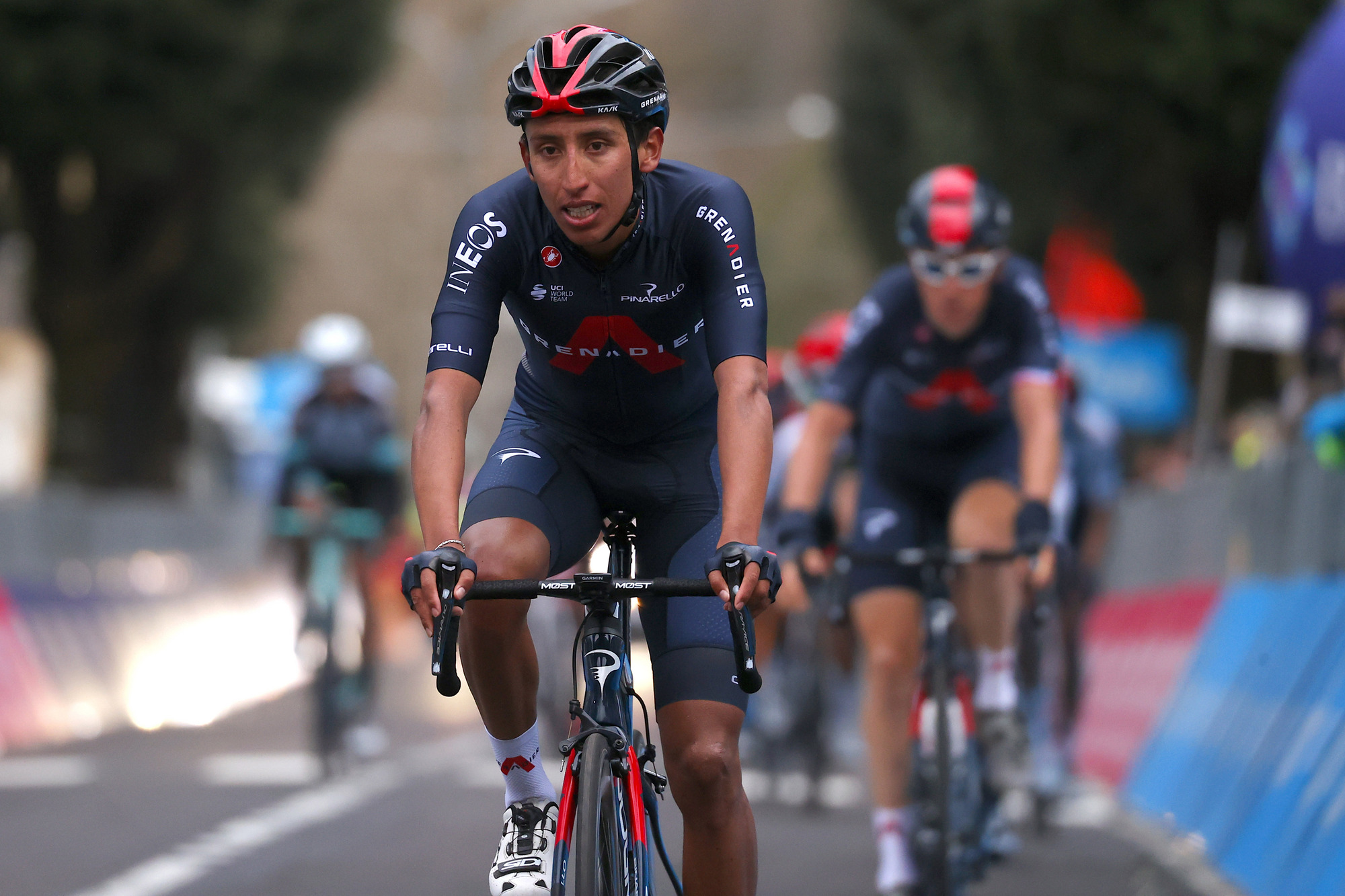 Tirreno Adriatico 2021 56th Edition 3rd stage Monticiano Gualdo Tadino 219 km 12032021 Egan Bernal COL Ineos Grenadiers photo Luca BettiniBettiniPhoto2021