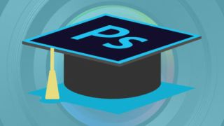 Mortarboard with the Photoshop logo on top