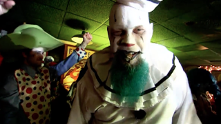 Check out his clown from Mastodon's Blood and Thunder video