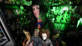 Wednesday 13 with his horror collection