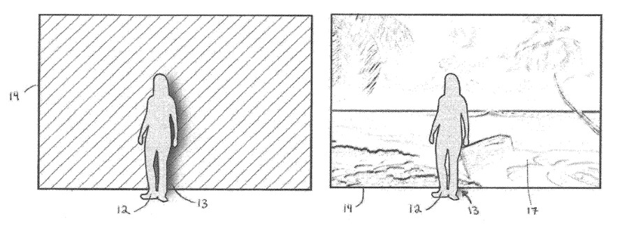 A patent for the chroma keying on Apple Glass