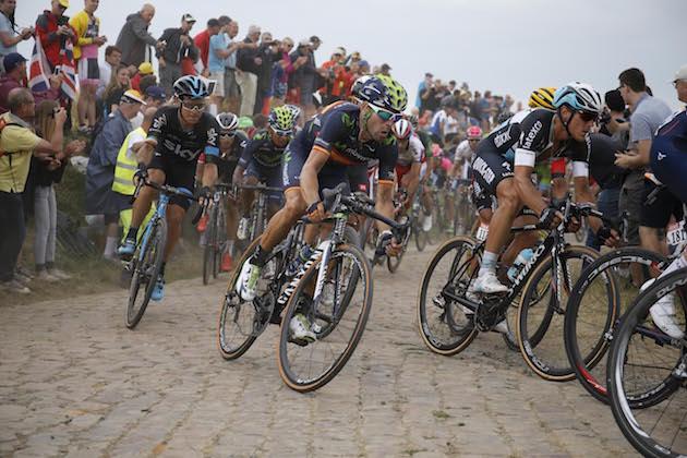 Thumbnail Credit (cyclingweekly.com) (Photo: Yuzuru Sunada): Alejandro Valverde leads Nairo Quintana over the cobbles at the 2015 Tour de France Credit: Yuzuru Sunada