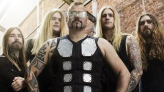 A poicture of Sabaton with new guitarist Tommy Johansson