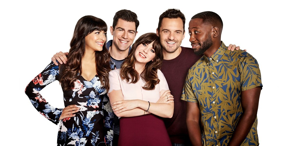 Jake Johnson, Max Greenfield, Hannah Simone, Zooey Deschanel, and Lamorne Morris