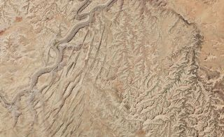canyonlands national park from space
