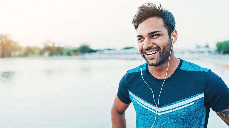 Active man on a run